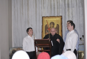 Праздничный молебен и концерт квартета Афон в Киеве