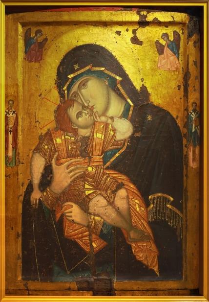 Чудотворная икона Пресвятой Богородицы Сладкое лобзание Гликофилусса