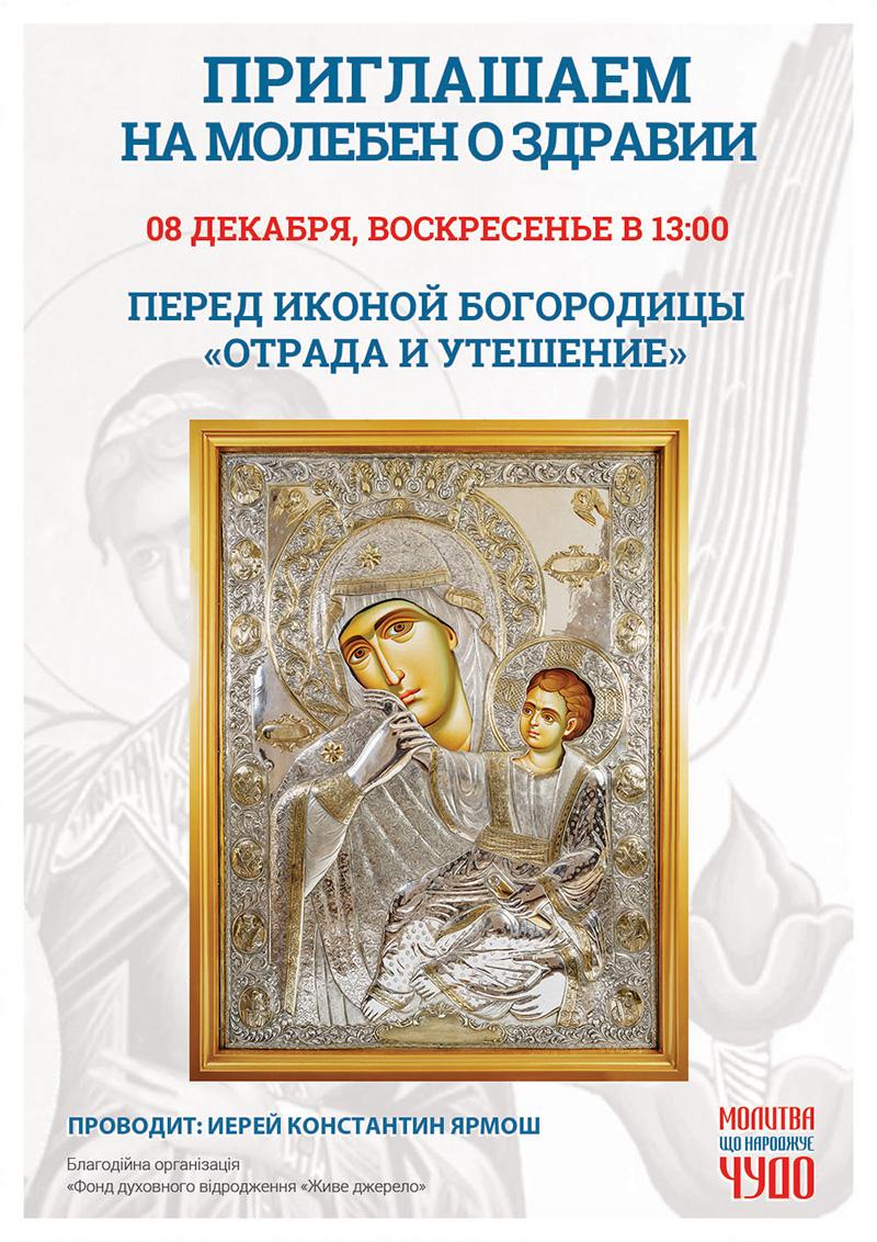 Отрада и Утешение, чудотворная афонская икона в Киеве